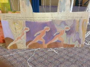 Bottom part of artwork by Margaret Sharon Olscampof Bathurst NB but, Canada